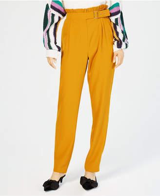 Be Bop Juniors' Belted Ruffle-Waist Pants