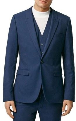 Men's Topman Ultra Skinny Fit Twill Suit Jacket $280 thestylecure.com