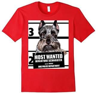 Mini A Ture Most Wanted Miniature Schnauzer T-shirt - Dog Tee Shirts -44