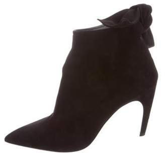 Christian Dior La Belle Suede Ankle Booties Black La Belle Suede Ankle Booties