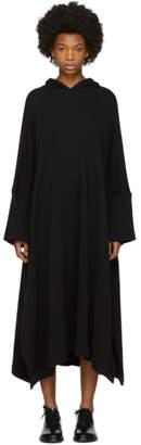 Nocturne 22 Black Fleece Hooded Dress