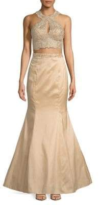 Xscape Evenings Two-Piece Embellished Gown