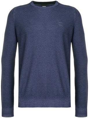 HUGO BOSS logo fitted sweater