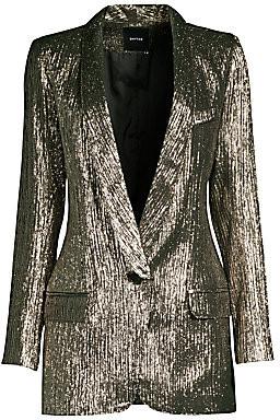Smythe Women's Metallic Longline Blazer
