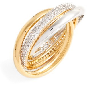 Women's Nadri Trinity Pave Ring $100 thestylecure.com