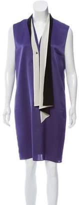 Lanvin Sleeveless Scarf Neck Knee-Length Dress w/ Tags