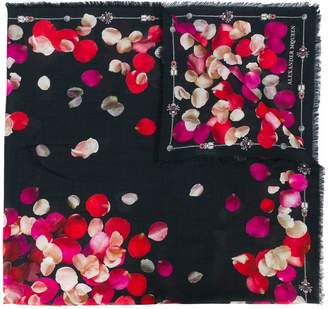 Alexander McQueen Petal Skull scarf