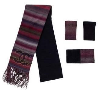Chanel Paris-Moscou Knit Accessory Set