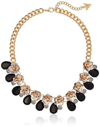 GUESS Floral La Femme Women's Sequin Flower Chain Necklace with Stones