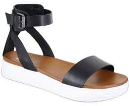 Mia Ellen Ankle-Strap Faux Leather Sandals