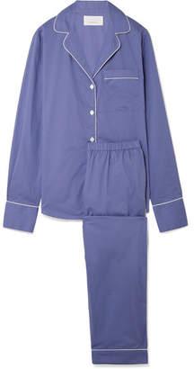 Three J NYC Moss Cotton-poplin Pajama Set - Blue