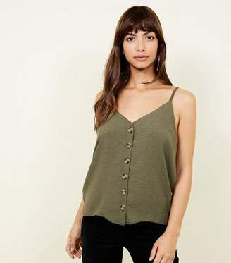 New Look Khaki Button Front Cami