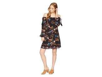 Miss Me Off the Shoulder Printed Dress