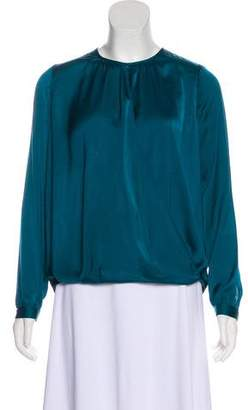 Vince Satin Surplice Top