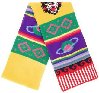 Gucci Striped symbol scarf