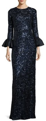 Rickie Freeman for Teri Jon Sequined Lace Column Gown $480 thestylecure.com