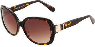 Balmain Oversized Round Tortoiseshell Acetate Sunglasses