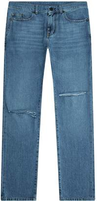 Saint Laurent Skinny Ripped Knee Jeans