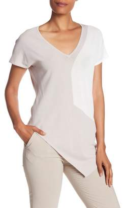 Maac London Mast Colorblock Asymmetrical Blouse