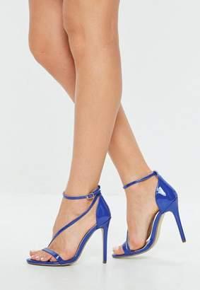 Missguided Blue Asymmetric Sandals
