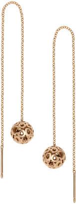 Parker Hi June Jewelry New York Rotunda Threader 14k Yellow Gold Earrings