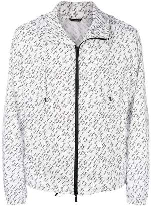 Fendi linear print lightweight jacket