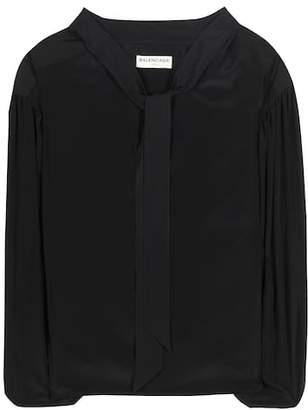 Balenciaga Silk-blend blouse