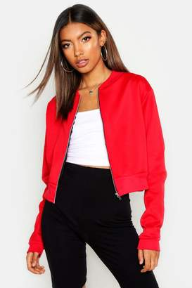 boohoo Crop Bomber Jacket