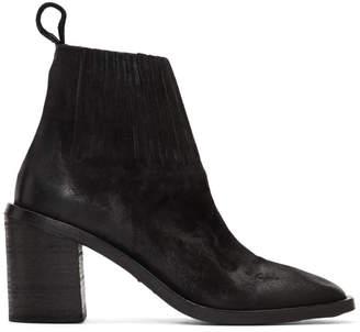 Marsèll Black Tapiro Sock Detail Ankle Boots