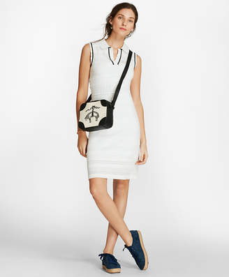 Brooks Brothers Pointelle Knit Polo Dress