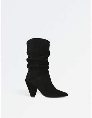 Carvela Scrunch suede boots