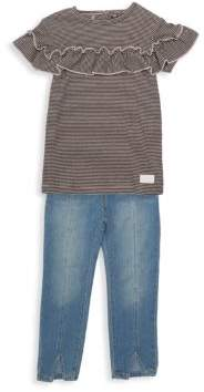 7 For All Mankind Little Girl's Two-Piece Top & Jeans Set