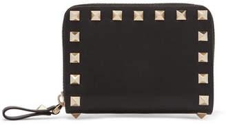 Valentino Garavani The Rockstud Leather Wallet - Black