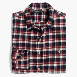 Mercantile Tall slim-fit flannel shirt in plaid