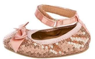Stuart Weitzman Girls' Sequin Ballet Flats