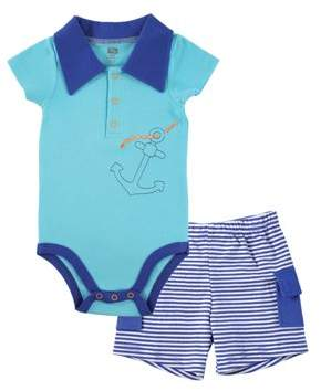 Hudson Baby Boys' Bodysuit & Cargo Shorts, 2pc Outfit Set