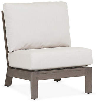 One Kings Lane Laguna Armless Club Chair - Canvas Sunbrella