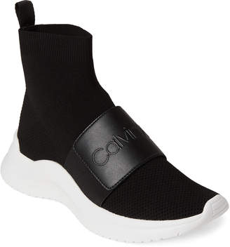 Calvin Klein Black Uni Stretch Knit Sneakers