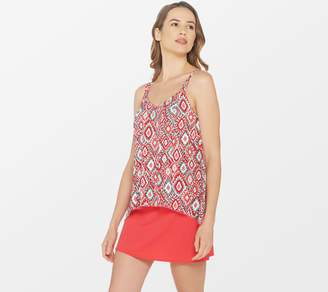 Denim & Co. Beach Hi-Low Tankini Swimsuit with Skirt