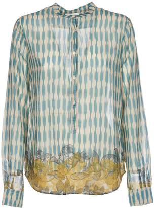 Forte Forte Magnolia Print Stand Collar Voile Shirt