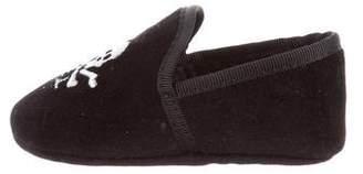 Ralph Lauren Boys' Embroidered Velvet Slippers