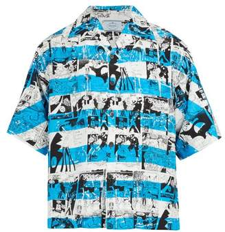 Prada Comic Strip Print Shirt - Mens - Blue Multi