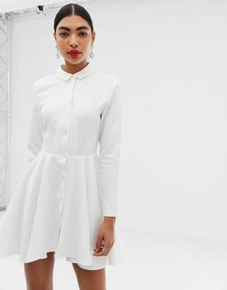 Unique21 button front shirt with curved waistline