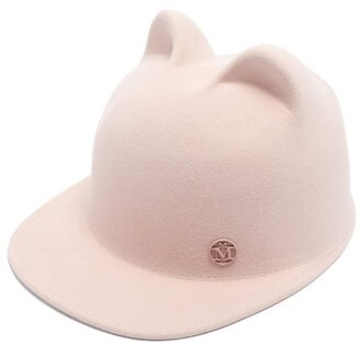 Maison Michel Jamie Cat Ears Felt Cap - Womens - Pink