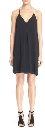 Women's Alice + Olivia 'Fierra' Stretch Silk Slipdress $198 thestylecure.com