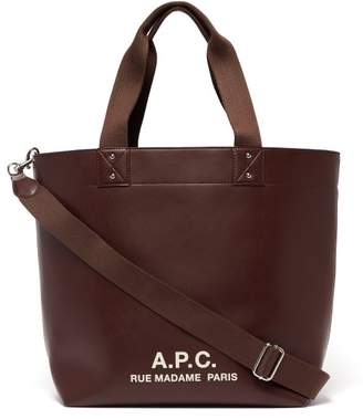 A.P.C. Eddy Leather Tote Bag - Mens - Brown