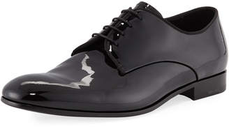 Giorgio Armani Patent Leather Lace-Up Loafer