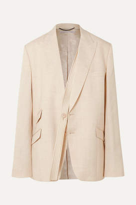 Stella McCartney Oversized Woven Blazer - Beige