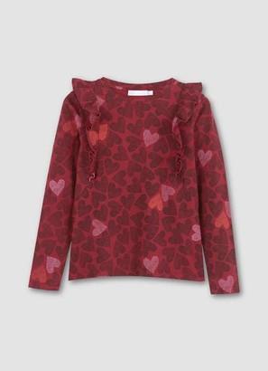 Mint Velvet Berry Heart Print T-Shirt
