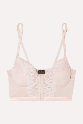 Cosabella Envy Embroidered Stretch-satin And Tulle Underwired Soft-cup Bra - Blush